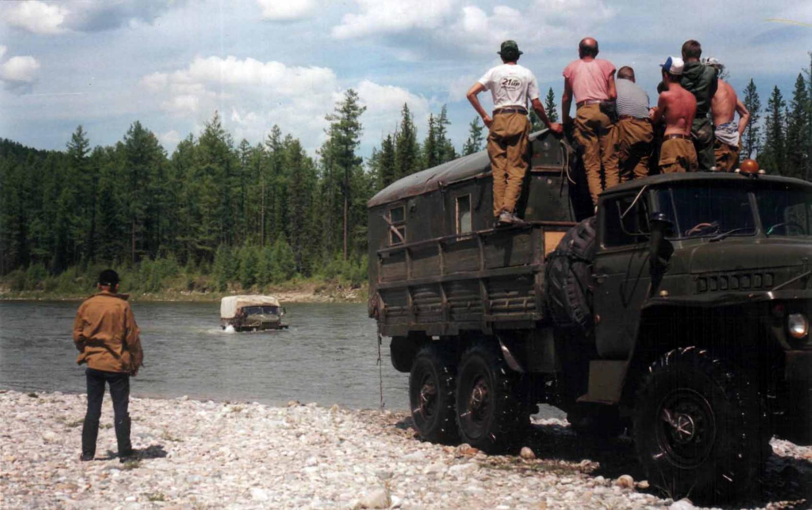Брод на реке Китой в начале июня 2000 года.