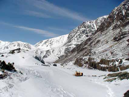 Снег в районе месторождения нефрита Оспинское