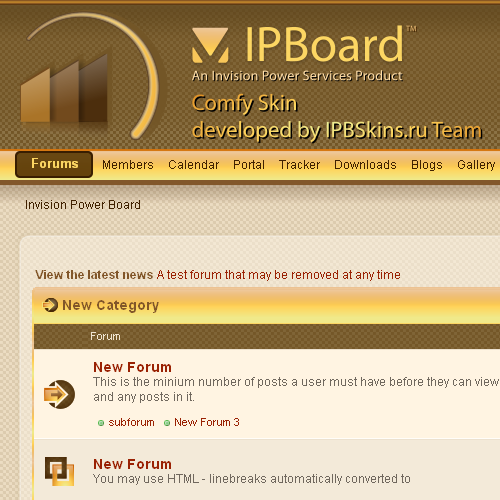 IPB 3 comfy Style by IPB Skins Team